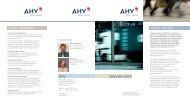 Seminare 2012 Wissen bewegt. Unsere Highlights. AHV