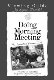 Doing Morning Meeting - Stenhouse Publishers