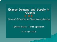 Energy Demand and Supply in Albania - Narucpartnerships.org