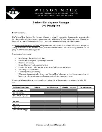 IntL Airport Business Manager  Bom Job Description