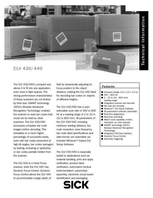 CLV 430/440 - Adcon Engineering Co