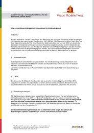 Ausschreibungs- und Vergaberichlinien (362.5 KB) - Villa Rosenthal