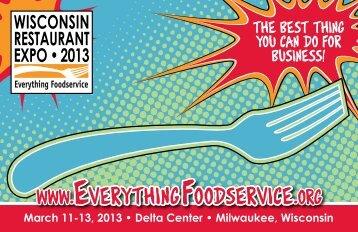 See the Show Brochure - Wisconsin Restaurant Association
