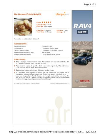 Hot German Potato Salad III Page 1 of 2 5/6/2012 http://allrecipes ...