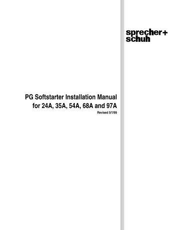 sprecher schuh soft starter manual