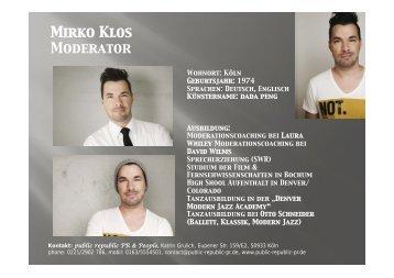 Sedcard Mirko Klos.pptx - Public-republic-pr.de