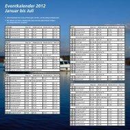 Eventkalender 2012 Januar bis Juli