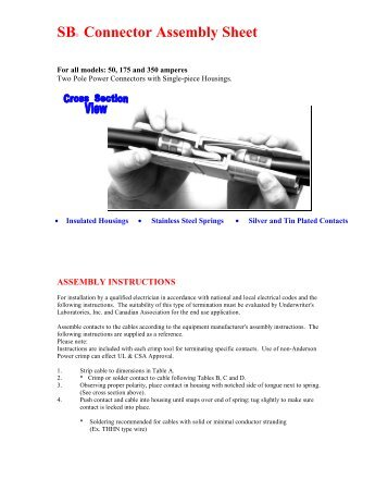 SB® Connector Assembly Sheet - Simtek (UK)