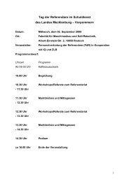 Tag der Referendare im Schuldienst des Landes Mecklenburg ...