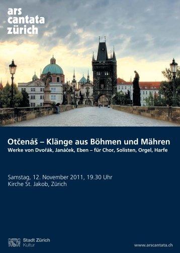 November 2011 - Ars Cantata Zürich