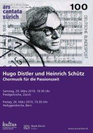 März 2010 - Ars Cantata Zürich