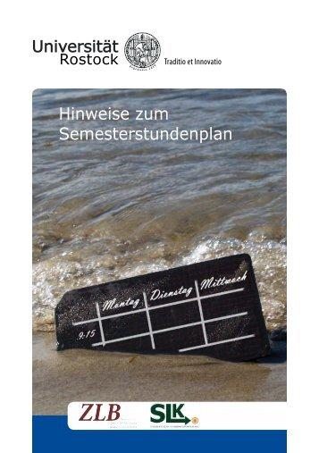 Semesterstundenplans - Zentrum für Lehrerbildung und ...