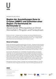 Pressemitteilung 01.06.2011 - Dortmunder U