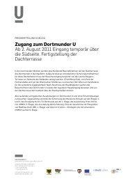 Pressemitteilung 02.08.2011 - Dortmunder U