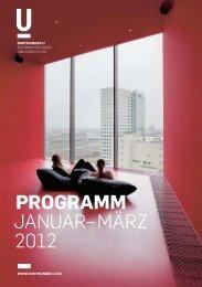 Programm Januar–März 2012 - Dortmunder U