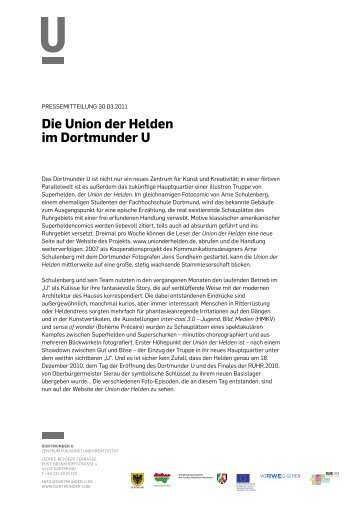 Pressemitteilung 30.03.2011 - Dortmunder U