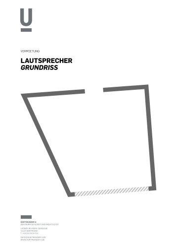 Lautsprecher Grundriss - Dortmunder U
