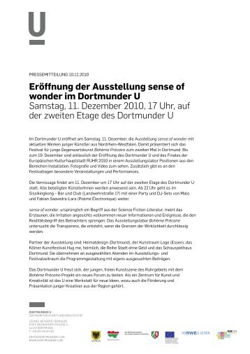 Pressemitteilung 10.12.2010 - Dortmunder U