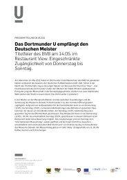 Pressemitteilung 06.05.2011 - Dortmunder U