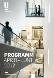 Programm AprIl–JunI 2012 - Dortmunder U