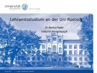 Schulpädagogik - Allgemeine Pädagogik - Universität Rostock