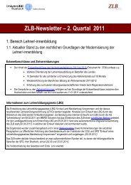 3. Newsletter (2011) - Zentrum für Lehrerbildung und ...