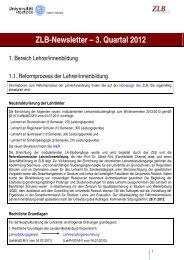 5. Newsletter (2012) - Zentrum für Lehrerbildung und ...