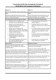 Gesetzentwurf für das Europäische Parlament Draft bill for the ...