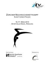 ZÜRCHER NACHWUCHSWETTKAMPF - Kunstturnerinnen Neerach