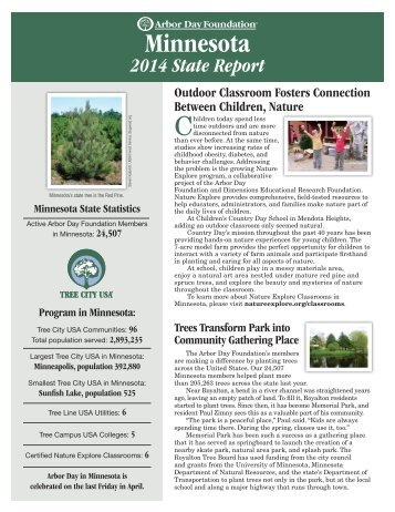 the state of Minnesota - Arbor Day Foundation