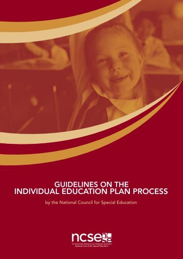 Guidelines on the Individual Education Plan Process - National ...