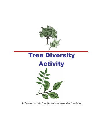 Tree Diversity Activity - Arbor Day Foundation