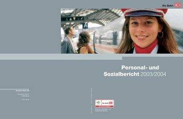 Personal- und Sozialbericht 2003/2004 - Deutsche Bahn  AG
