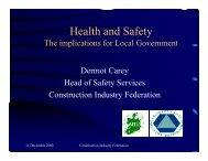 Health & Safety Presentation by Dermot Carey, CIF (PDF (1302 KB)).