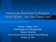 Hazelnuts Resistant to Eastern Filbert Blight: Are We There Yet?
