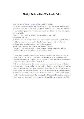 Methyl Anthranilate Wholesale Price