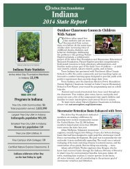 Arbor Day Foundation State Report for Indiana