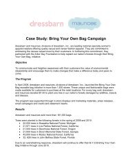 Case Study: Bring Your Own Bag Campaign - Arbor Day Foundation