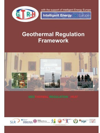 Geothermal Regulation Framework, 2009 - Geoelec