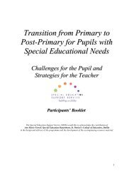 Transition Booklet - Special Education Support Service