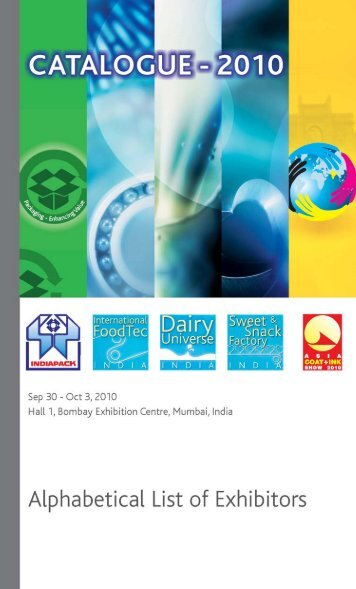 Alphabetical List of Exhibitors - International Foodtec India 2012