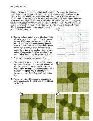 iso-area square twist project.pdf - Origami Tessellations