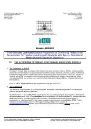 Post-Graduate Certificate/Diploma Programme of Continuing ...