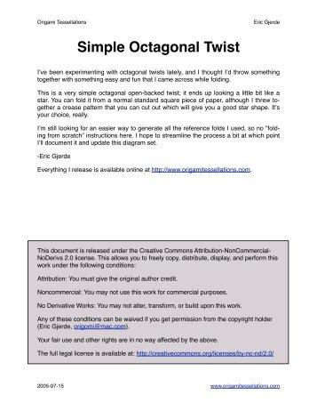 Simple Octagonal Twist - Origami Tessellations