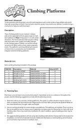 Climbing Platforms - Arbor Day Foundation