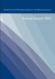 Download 2012 Annual Report - Institute for Historical Justice and ...