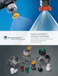 QUICK-CONNECT NOZZLE SYSTEMS - Spraying Systems Co.