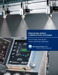precision spray lubrication systems - Spraying Systems Co.