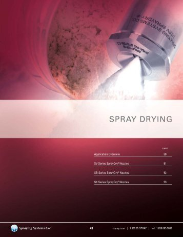 SPRAY DRYING - Spraying Systems Co.
