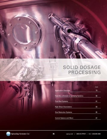 SOLID DOSAGE PROCESSING - Spraying Systems Co.